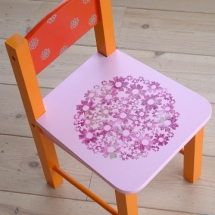 stoel rozerood