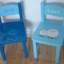stoelen blauw