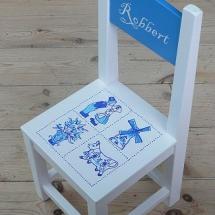 stoel delftsblauw