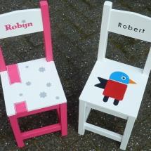 stoelen met naam